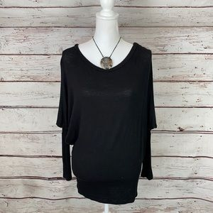 Black Long a sleeve Tunic Top Small